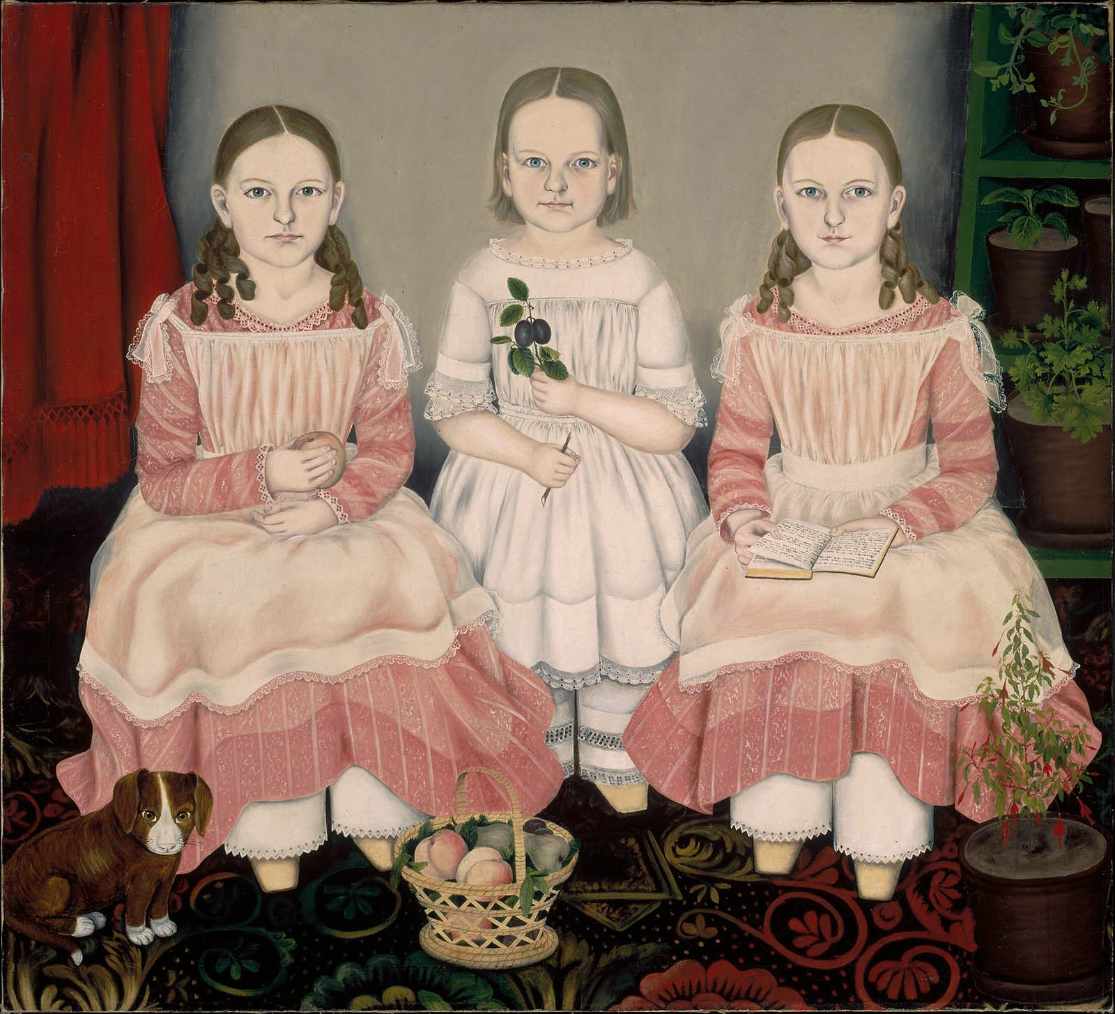 The Lincoln Children, by Susan Catherine Moore Waters (1845) Oil on canvas Image courtesy of the Museum of Fine Arts, Boston, MA Juliana Cheney Edwards Collection